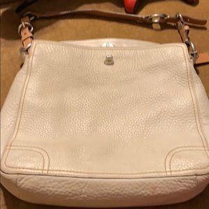 Genuine leather, cream coach bag